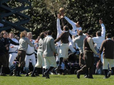 Re-enactment of the first game of Rugby, 2011