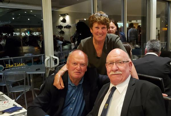 Sir Graham, Lady Raewyn and Red at the 150th dinner